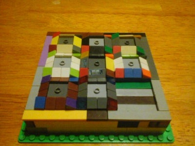 Lego Sliding Panel Compartment