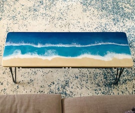 Epoxy Resin Ocean Coffee Table With Hidden Ikea Storage!