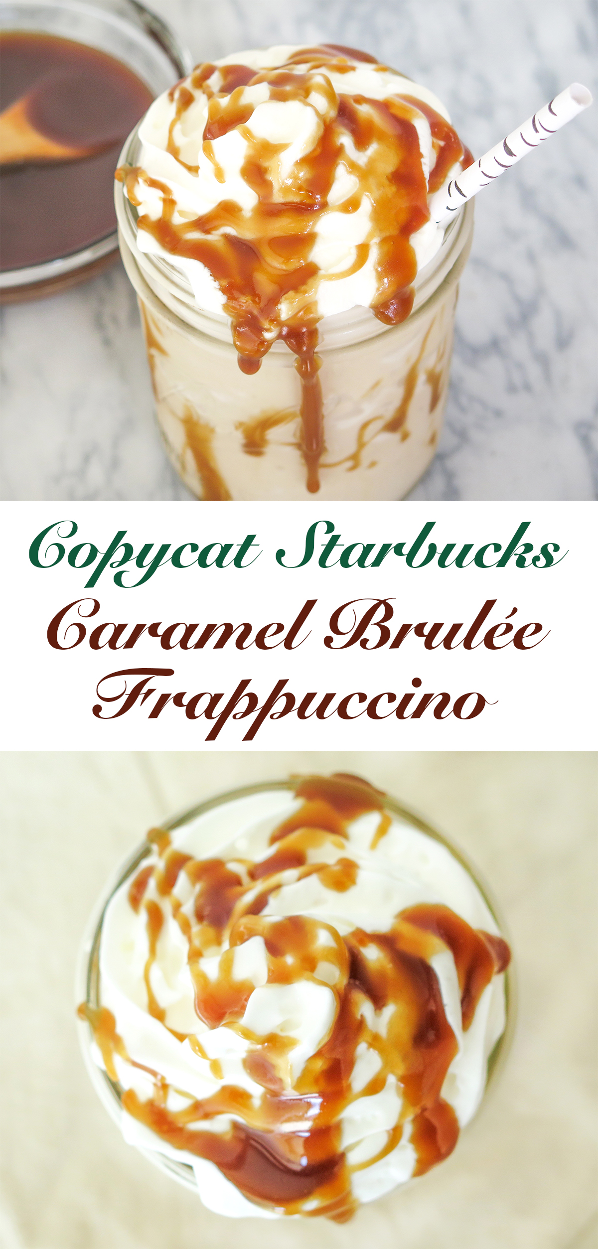 Caramel Brulee Frappuccino Recipe 3 Steps With Pictures
