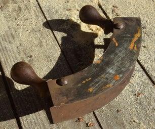 生锈的古董刀修复-仅手工工具