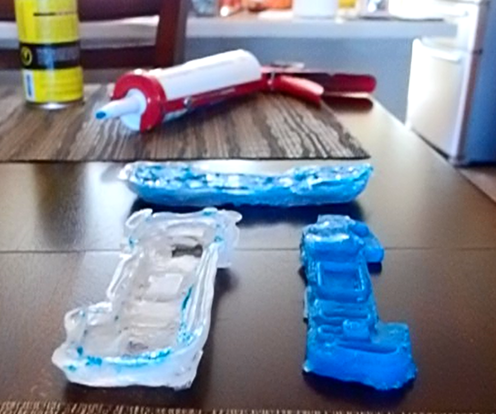 Making Molds With Tubes of Silicone