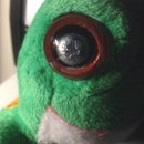 Cyborg Stuffed Animal Eye Repair