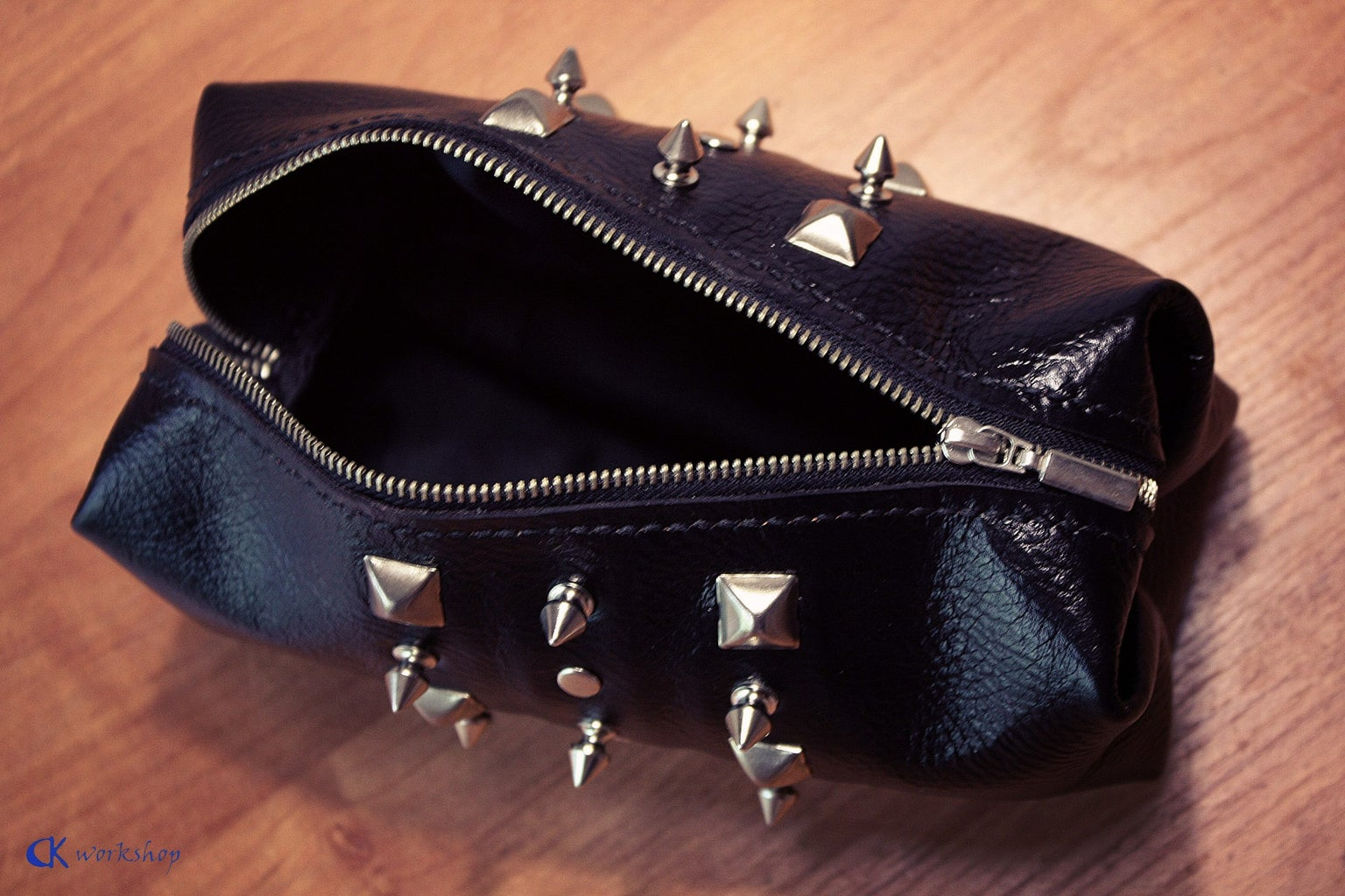 Leather Makeup Bag for Biker