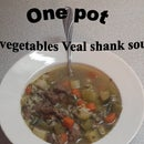 One Pot 5 Vegetables Veal Shank Soup
