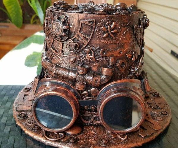 如何从回收材料中制作蒸汽朋克帽