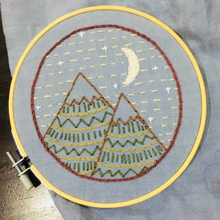 Mountain Embroidery Sampler + Free Pattern