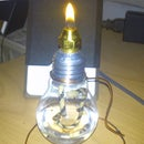 Candle Light from an old Bulb