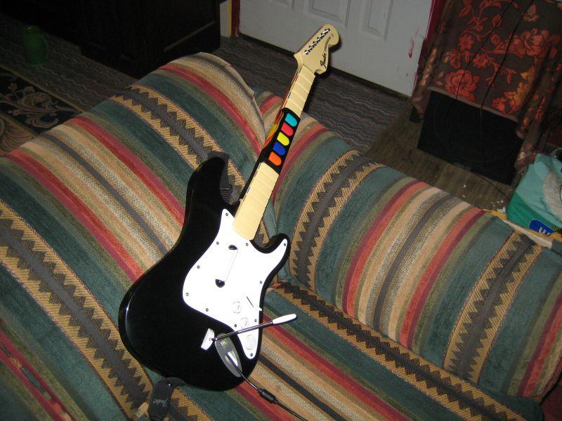 Rock Band Guitar Mod: Guitar Hero Buttons and Strum Bar