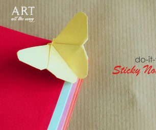 How to Make Sticky Note Butterfly