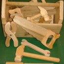 Kids wooden tool set UPDATED new tool