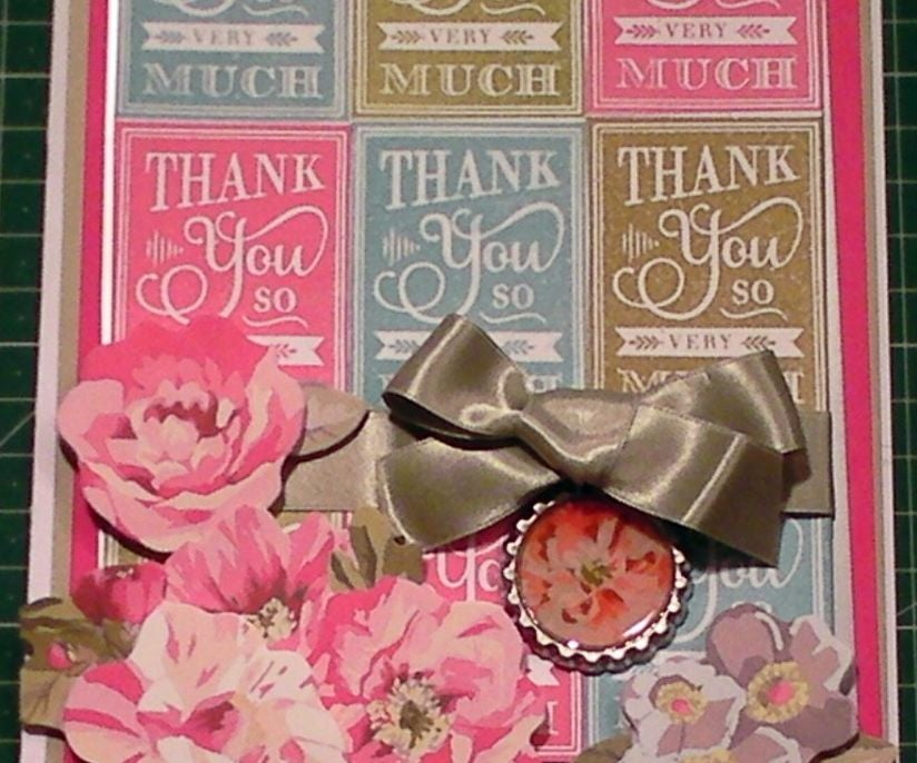 how to make a fancy chalkboard stamped thank you card