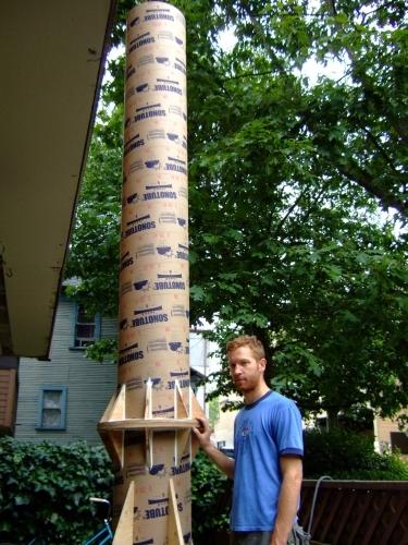 """800watt, 12' long 16"""" diameter Bass Cannon."""