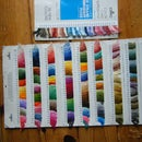 Making a color card (embroidery floss mostly)