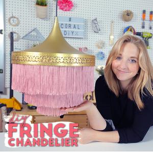 DIY Fringe Chandelier