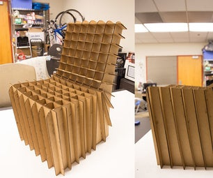 Lasercut Cardboard Chair