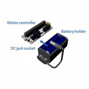 バッテリーホルダーをモーターコントローラーに接続しましょう
