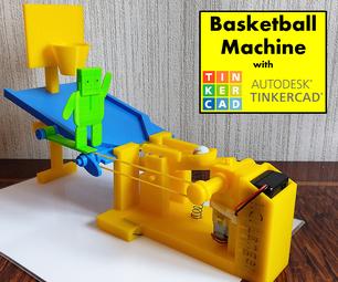 学校的Tinkercad机器人:篮球机!