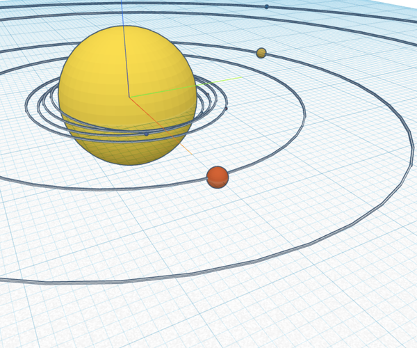 Scaling the Solar System With Tinkercad