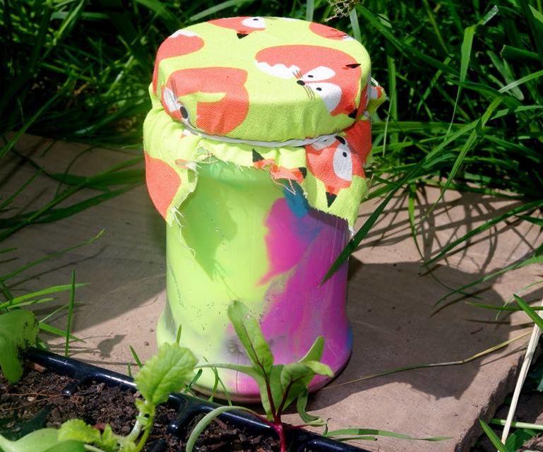 Glow in the dark rainbow jar
