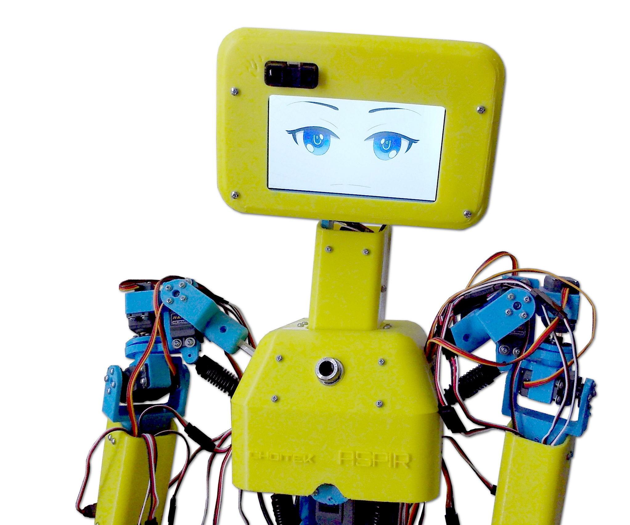 ASPIR: Full-Size 3D-Printed Humanoid Robot