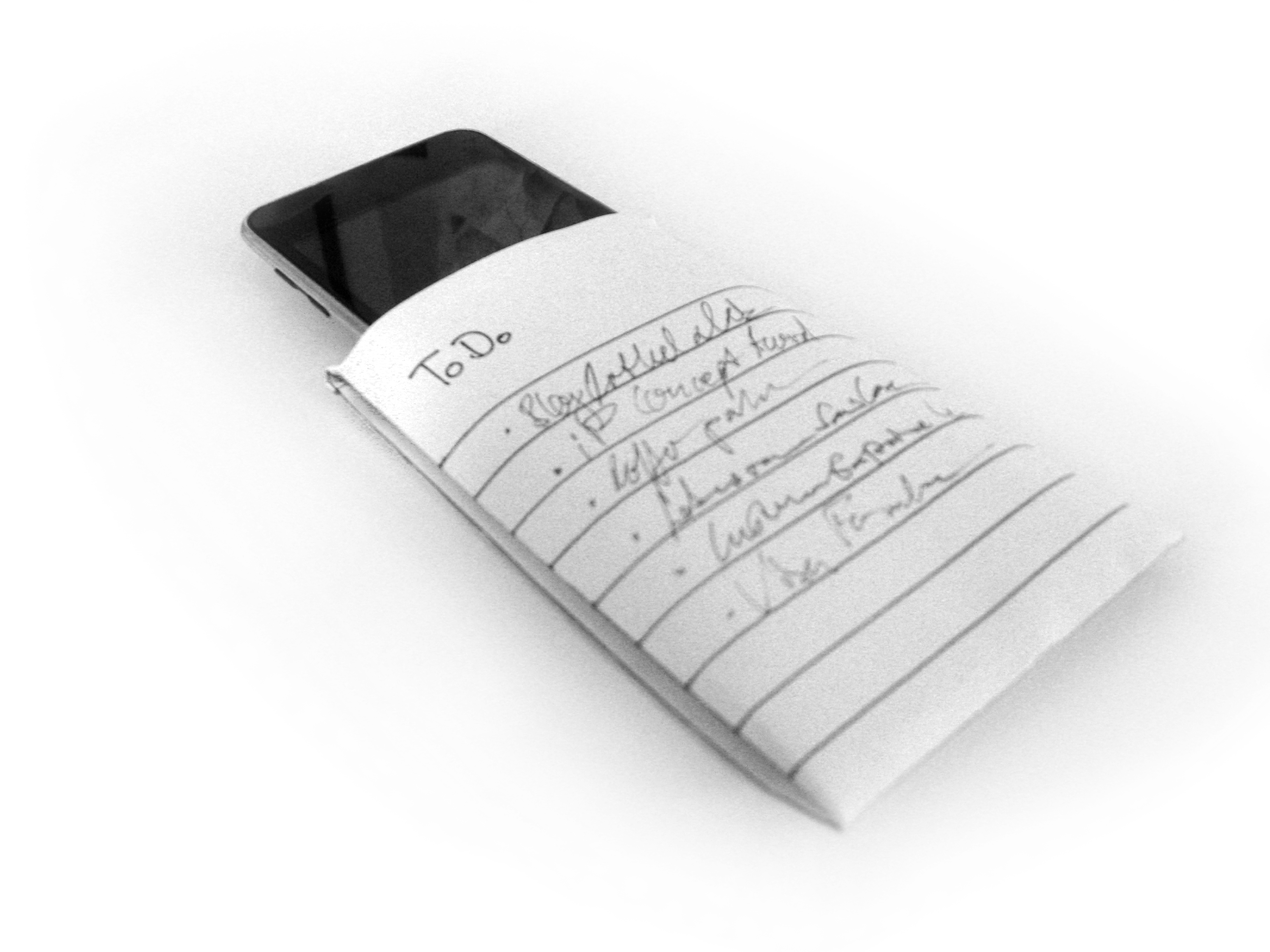 Sustainable iPhone / iPod Paper Case (Origami)