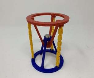 3D Printed Magnetic Tensegrity Model