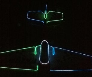 Simple EL Wire R/C Plane
