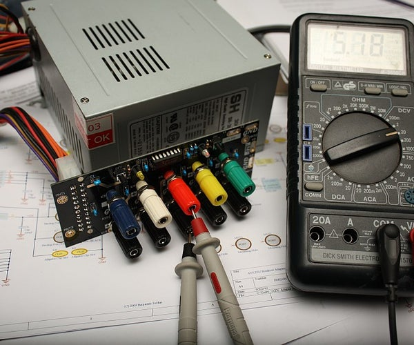 ATX Power Supply - the Elegant Way to Adapt to Benchtop Use...