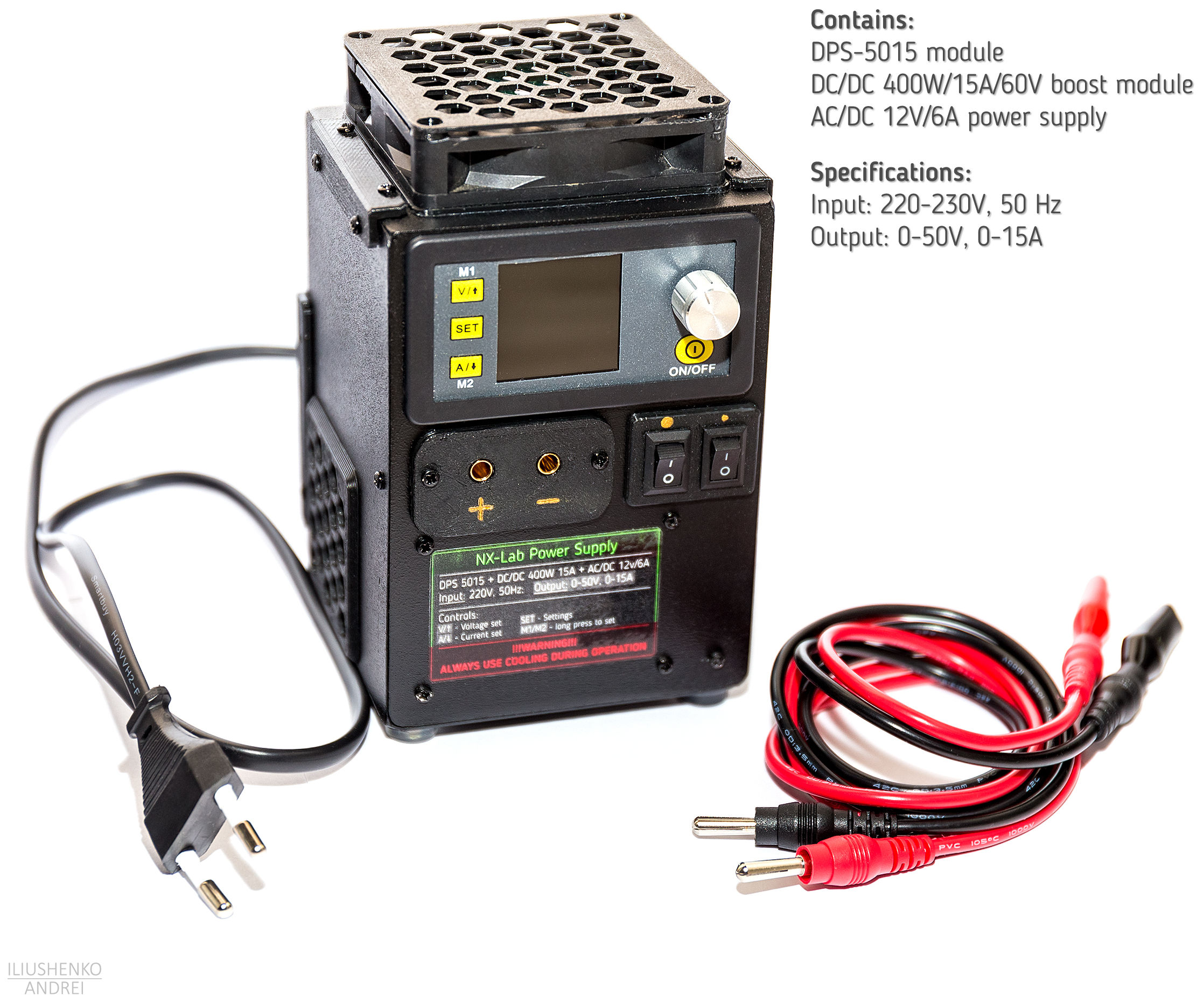 Simple and Small Programmable Lab Power Supply