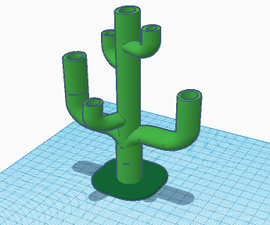 Cactus Inspired Planter in Tinkercad!