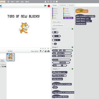 How to Install and Use ScratchExt: Javascript Scratch Extensions
