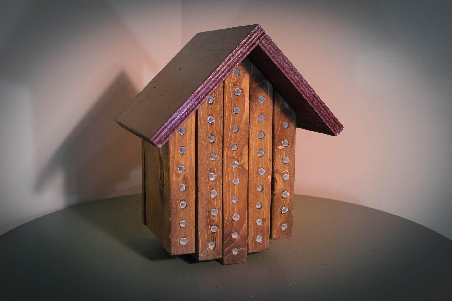 Finished Mason Bee House