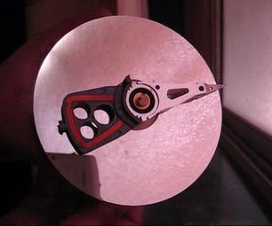 Artsy Recycled Hard Disk Clock