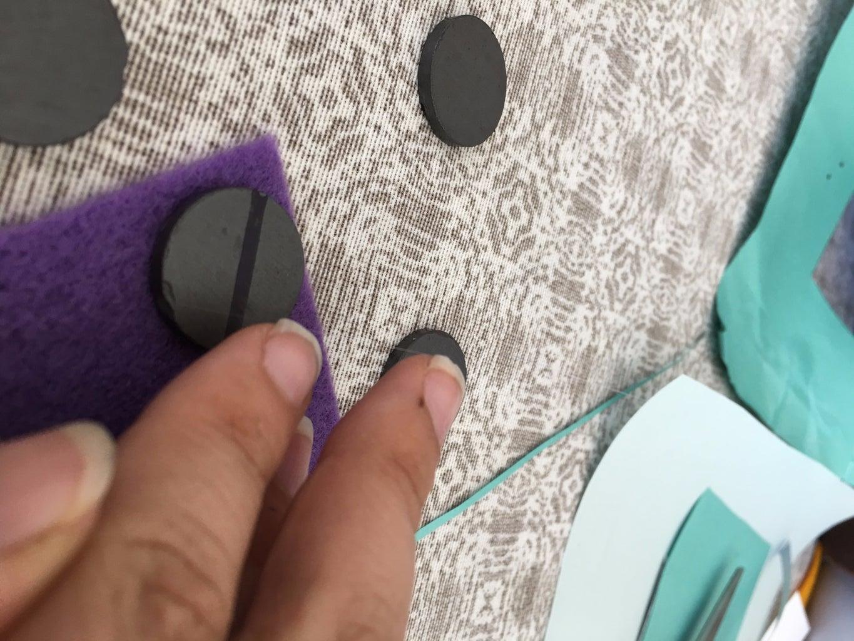 Glue Felt in Magnets