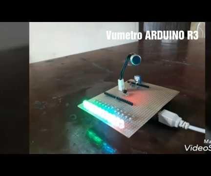 VUMETRO CON ARDUINO Y MICROFONO ELECTRET