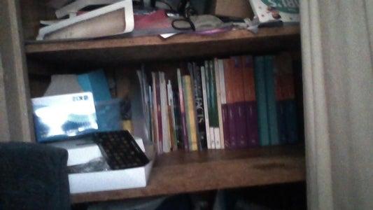 A Homeschool Supply Shelf