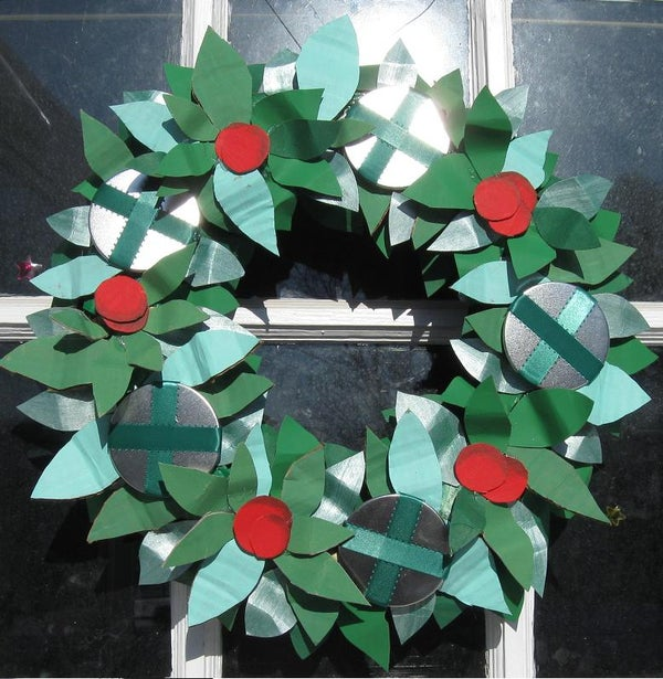 I'll Be Broke for X-Mas Cardboard Wreath
