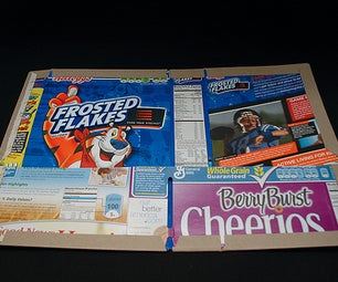 Make a School Folder From a Cereal Box