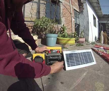 Grabadora Solar Con Grabadora Vieja!