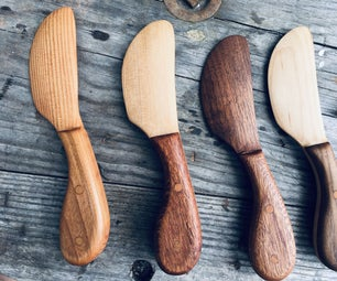 Wooden Cream Cheese Knife