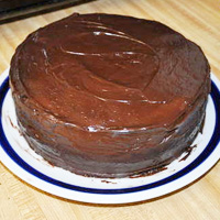 Triple Chocolate Brownie Cake