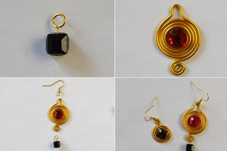 Finish This Pair of Golden Wire Wrapped Earrings