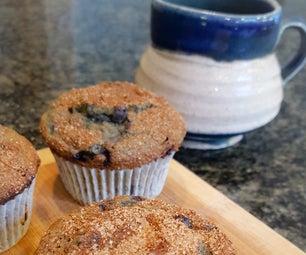 麸质免费野生蓝莓松饼
