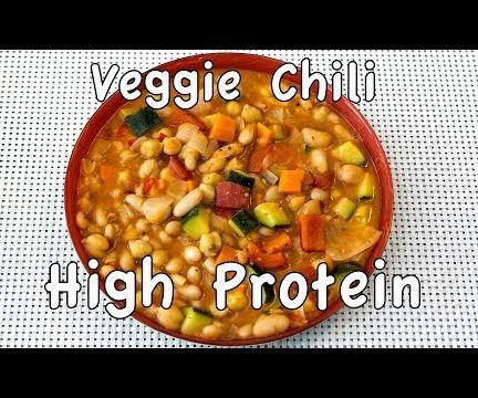 High Protein Veggie Chili - MealPrep Friendly