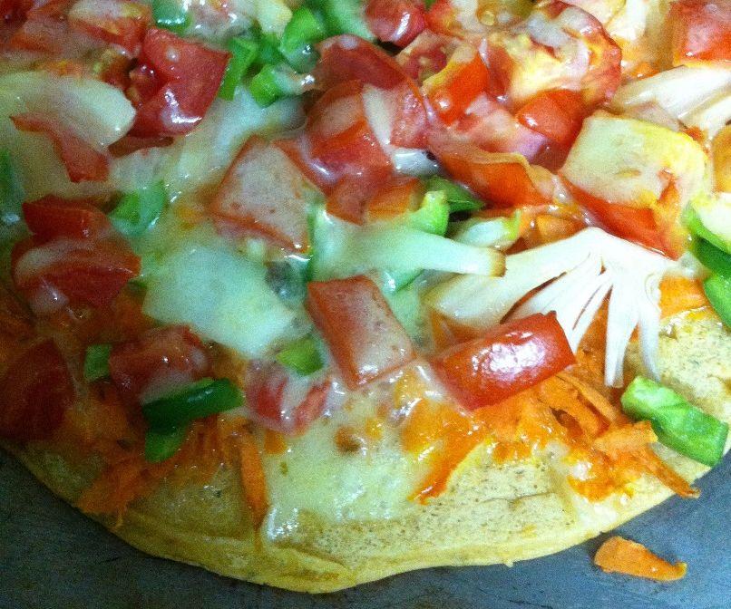 Splizzas: Split Pea Flour Pizzas!