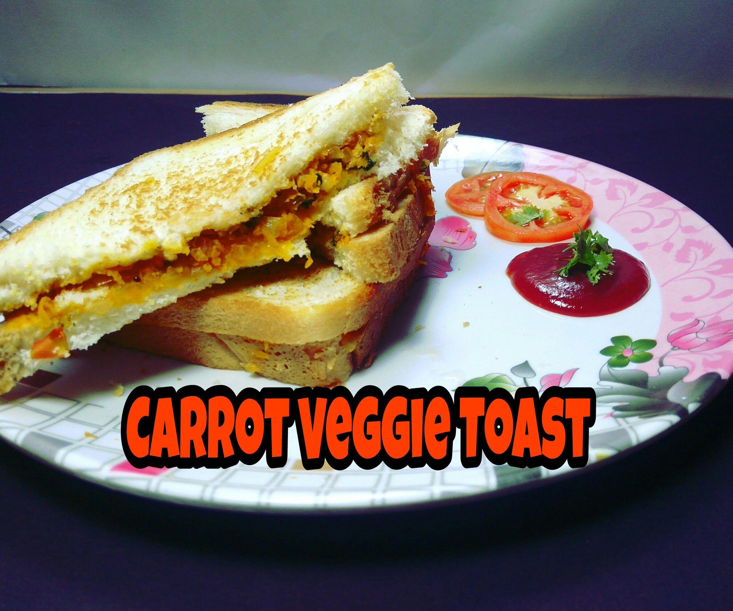 Carrot Veggie Toasted Sandwich