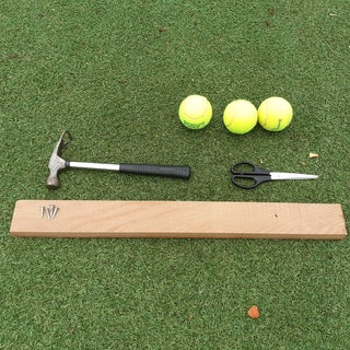 How to Make a Coat Hanger From Tennis Balls