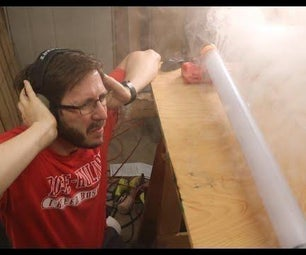 Music Controlled Fog Curtain! DIY Ruben's Fog Tube!