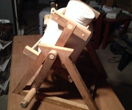 Wood Scrap Camping Washing Machine