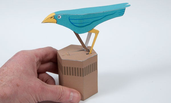 Paper Bird. Pendulum Powered Paper Project